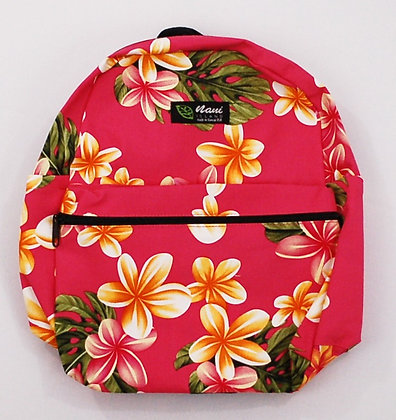 Tropical Backpack (Small) Cute Plumeria Pink