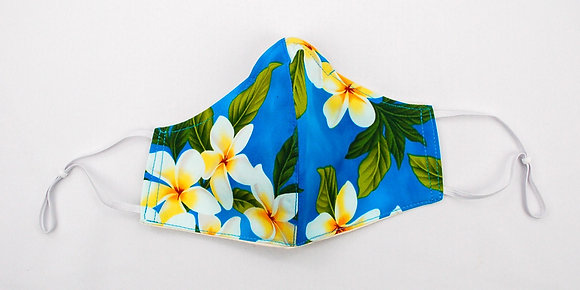 Tropical Mask Plumeria Turquoise (Adult)