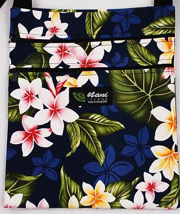 Tropical Passport Bag (XL) New Plumeria Navy
