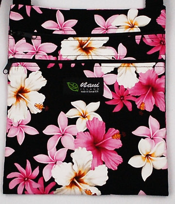 Tropical Passport Bag (XL) Dream of Flowers Black