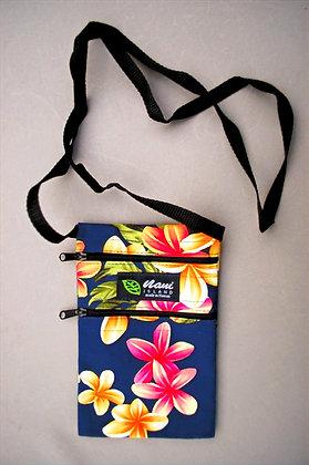 Tropical Cellphone Bag Cute Plumeria Navy