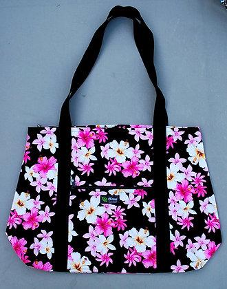 Tropical Weekender Bag Dream of Flowers Black