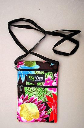 Tropical Cellphone Bag Hawaiian Garden Black