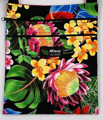 Tropical Passport Bag (XL) Hawaiian Garden Black