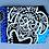 Thumbnail: Tropical Luggage Tag Honu Box Blue