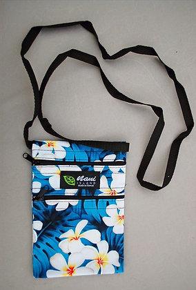 Tropical Cellphone Bag Modern Plumeria Blue