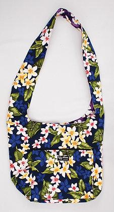 Tropical Reversible Sling Bag New Plumeria Navy