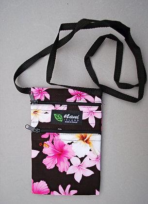 Tropical Cellphone Bag Dream of Flowers Black