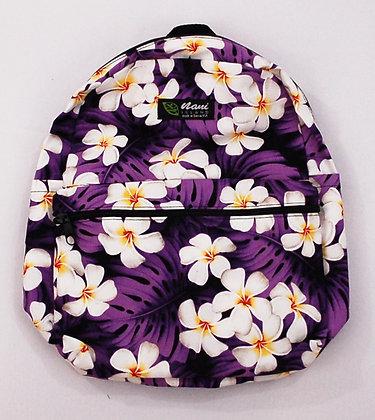 Tropical Backpack (Small) Modern Plumeria Purple
