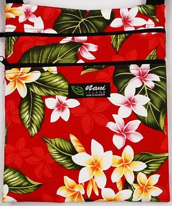 Tropical Passport Bag (XL) New Plumeria Red