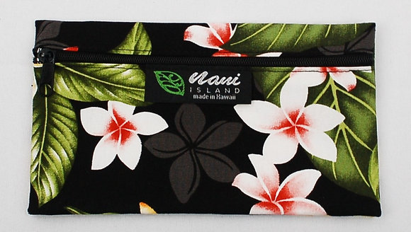 Tropical Eyeglass Case New Plumeria Black