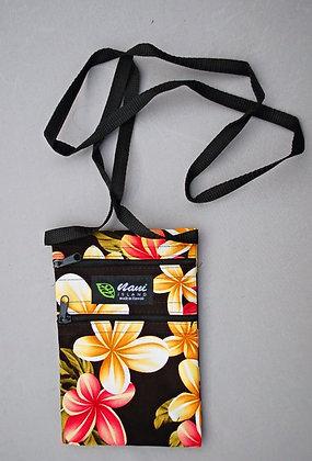 Tropical Cellphone Bag Cute Plumeria Black