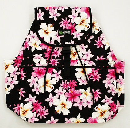 Tropical Backpack (Large) Dream of Flowers Black