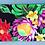 Thumbnail: Tropical Cosmetic Pouch Hawaiian Garden Black