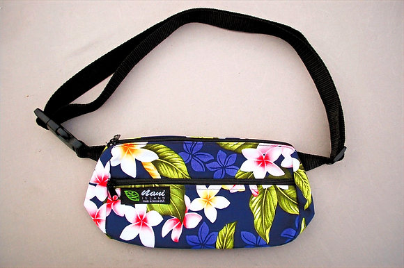 Tropical Fanny Pack New Plumeria Navy