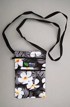 Tropical Cellphone Bag Modern Plumeria Black