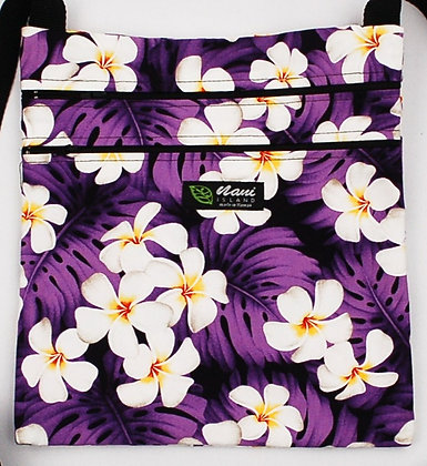 Tropical Passport Bag (XXL) Modern Plumeria Purple