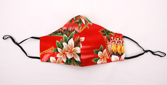 Tropical Mask Hawaiian Red (Adult)