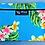 Thumbnail: Tropical Cosmetic Pouch Cute Plumeria Teal