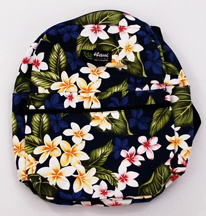 Tropical Backpack (Small) New Plumeria Navy