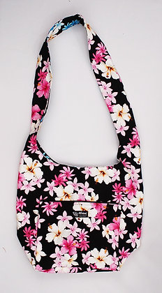 Tropical Reversible Sling Bag Dream of Flowers Black