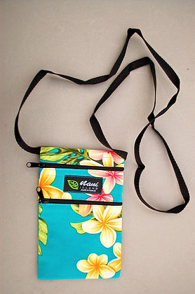 Tropical Cellphone Bag Cute Plumeria Teal