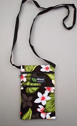 Tropical Cellphone Bag New Plumeria Black