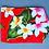 Thumbnail: Tropical Luggage Tag New Plumeria Red