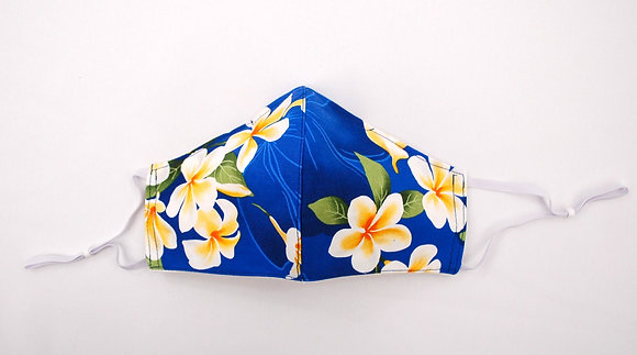 Tropical Mask Plumeria Shadow Blue (Adult)