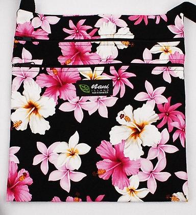 Tropical Passport Bag (XXL) Dream of Flowers Black