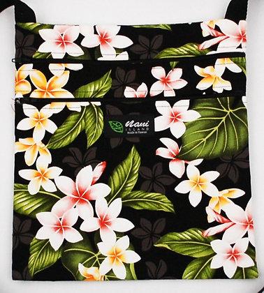 Tropical Passport Bag (XXL) New Plumeria Black