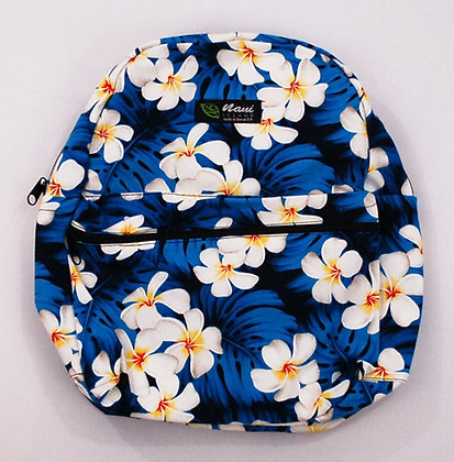 Tropical Backpack (Small) Modern Plumeria Blue