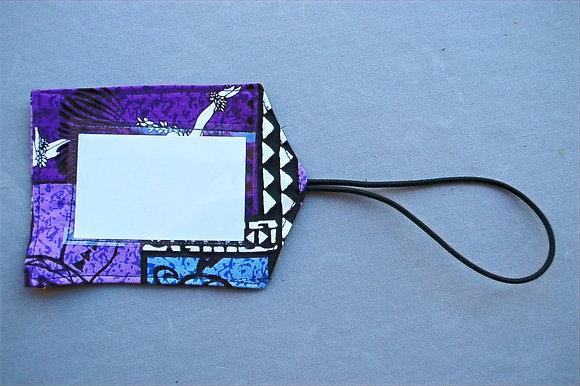 Tropical Luggage Tag Honu Box Purple