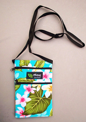 Tropical Cellphone Bag New Plumeria Teal