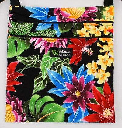Tropical Passport Bag (XXL) Hawaiian Garden Black