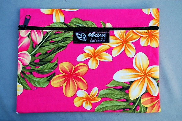 Tropical Cosmetic Pouch New Plumeria Pink