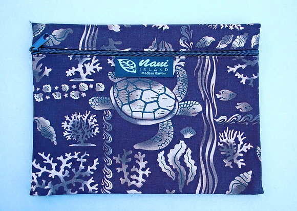 Tropical Cosmetic Pouch Under the Sea Black