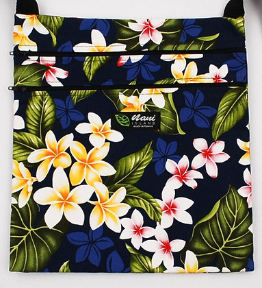 Tropical Passport Bag (XXL) New Plumeria Navy