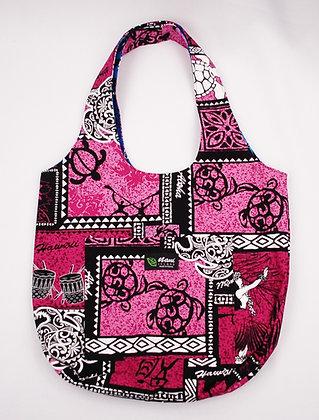 Tropical Reversible Hobo Bag Hono Box Pink
