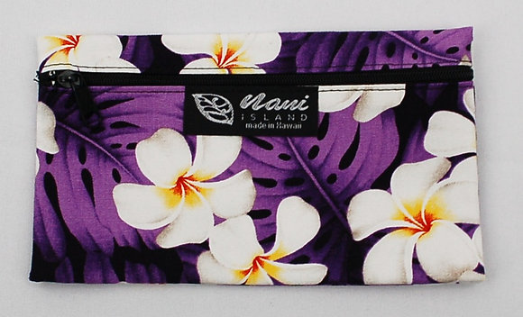 Tropical Eyeglass Case Modern Plumeria Purple