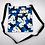 Thumbnail: Tropical Passport Bag (XXL) Modern Plumeria Blue