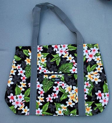 Tropical Weekender Bag New Plumeria Black