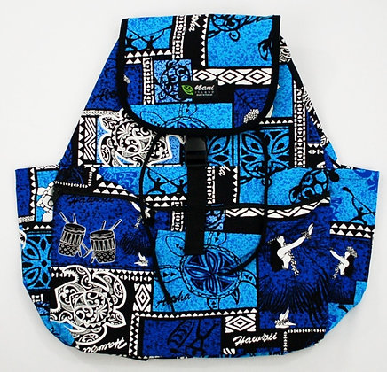 Tropical Backpack (Large) Honu Box Blue