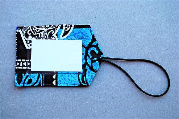 Tropical Luggage Tag Honu Box Blue
