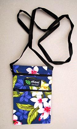 Tropical Cellphone Bag New Plumeria Navy