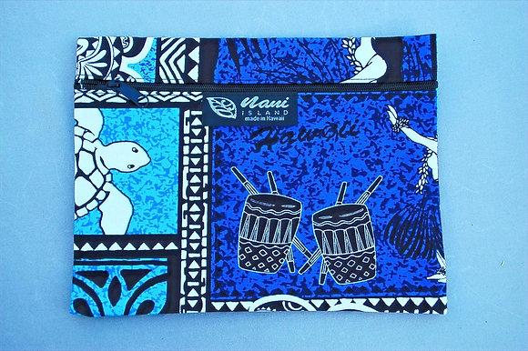 Tropical Cosmetic Pouch Honu Box Blue