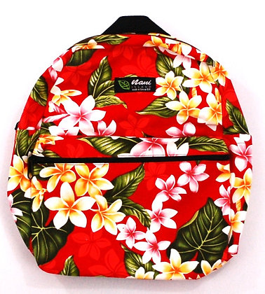 Tropical Backpack (Small) New Plumeria Red
