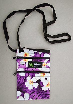 Tropical Cellphone Bag Modern Plumeria Purple