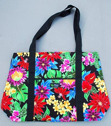 Tropical Weekender Bag Hawaiian Garden Black