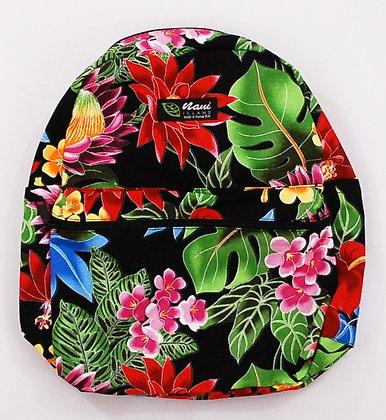 Tropical Backpack (Small) Hawaiian Garden Black